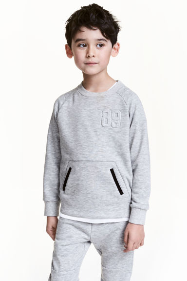 Sweatshirt - Grey marl - Kids | H&M