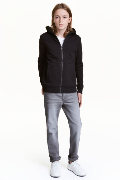 Pantalon en twill Skinny fit - Gris washed out - ENFANT | H&M FR 1