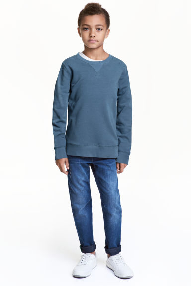 Relaxed Tapered Jeans - Denim blue - Kids | H&M 1