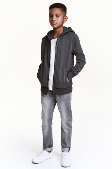 Denim joggers - Grey washed out - Kids | H&M 1