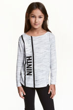 Fine-knit jumper - Light grey marl - Kids | H&M 1