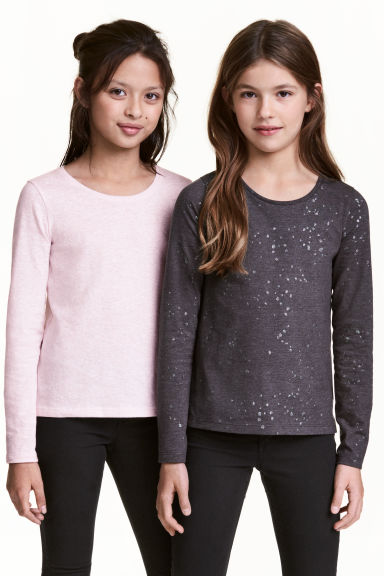 2-pack tops - Dark grey - Kids | H&M 1