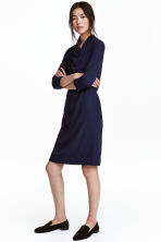 Crêpe dress - Dark blue - Ladies | H&M CN 1