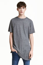Long T-shirt - Dark grey marl - Men | H&M 1