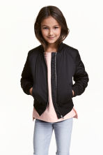 Padded bomber jacket - Black - Kids | H&M CN 1