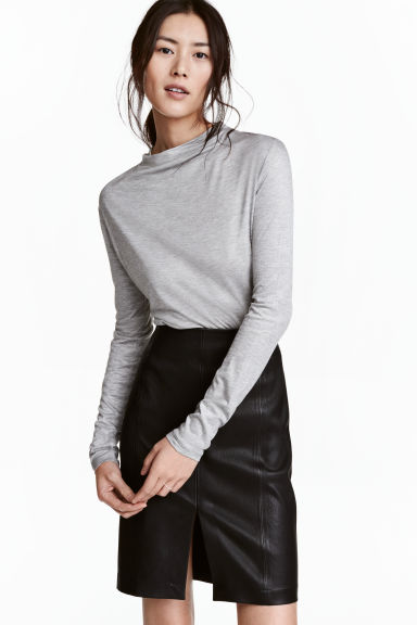 Top drapé - Gris clair chiné -  | H&M BE