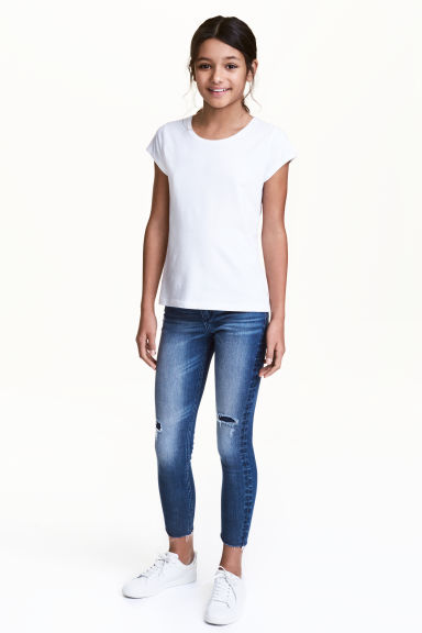 Skinny Fit Worn Jeans - Blu denim - BAMBINO | H&M IT 1