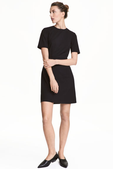 Fitted dress - Black - Ladies | H&M CN 1