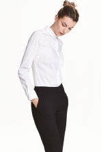 Stretch shirt - White - Ladies | H&M GB 1