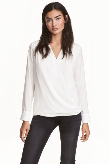 MAMA Nursing blouse - White - Ladies | H&M 1