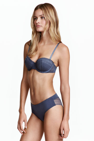 Lace hipster briefs - Storm blue - Ladies | H&M CN 1