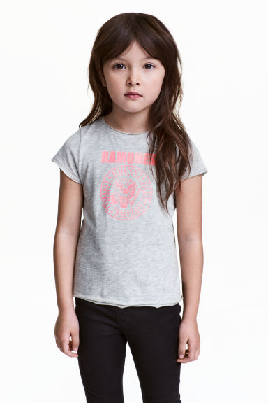 Patterned top - Grey/Ramones - Kids | H&M