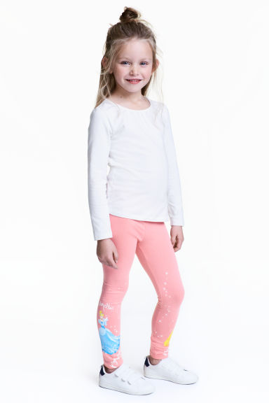 Jersey leggings - Pink/Disney Princesses - Kids | H&M