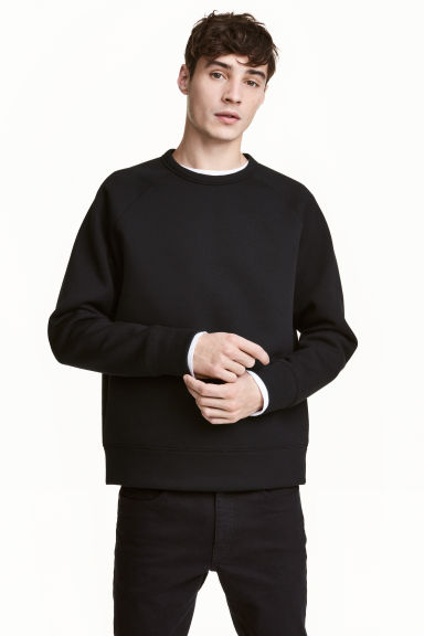 Scuba sweatshirt - Black - Men | H&M CN 1