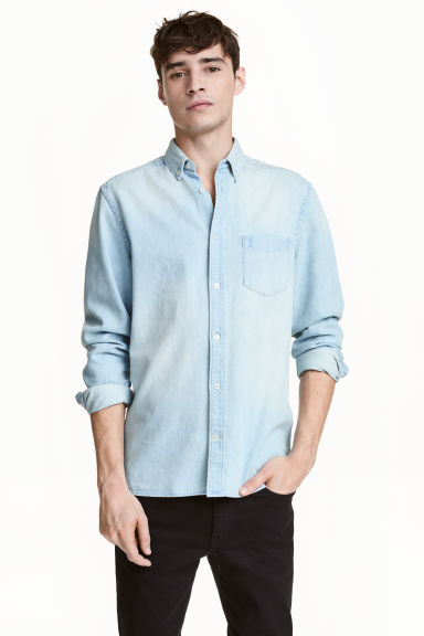 Denim shirt - Light denim blue - Men | H&M