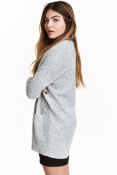 Knitted cardigan - Natural white marl - Ladies | H&M CN 1