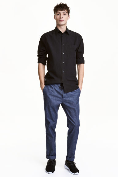 Joggers - Dark blue/Chambray - Men | H&M 1