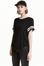 T-shirt with a motif - Black - Ladies | H&M 1