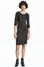 Jersey dress - Black marl - Ladies | H&M CA 2