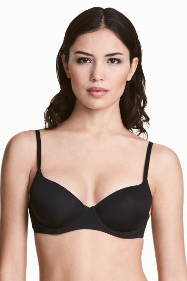 Microfibre T-shirt bra - Black - Ladies | H&M 1