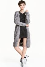 Long cardigan - Grey - Ladies | H&M CN 1