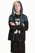 Hooded sports jacket - Black - Kids | H&M CN 1