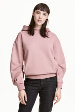 Oversized hooded top - Powder pink - Ladies | H&M 1
