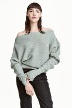 Knitted jumper - Mint green - Ladies | H&M 1