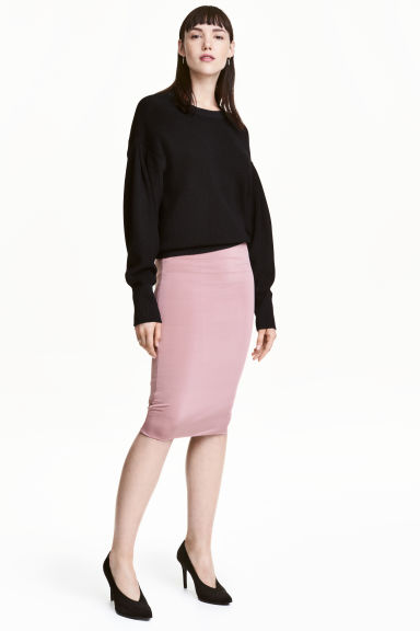 Pencil skirt - Powder pink - Ladies | H&M CN 1