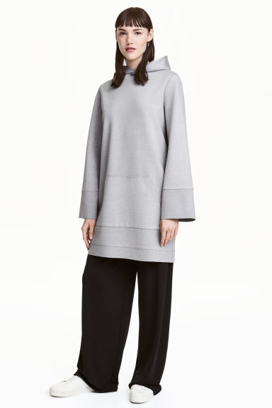 Hooded dress - Grey marl -  | H&M