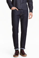 Straight Regular Jeans - Dark denim blue - Men | H&M 1