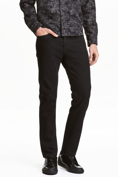 Straight Regular Jeans - Denim nero - UOMO | H&M IT