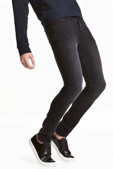 360° Tech Stretch Skinny Jeans - Black washed out - Men | H&M 1