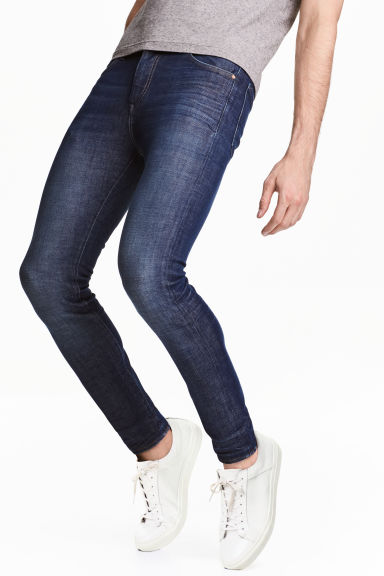 360° Tech Stretch Skinny Jeans - Dark denim blue - Men | H&M CN 1