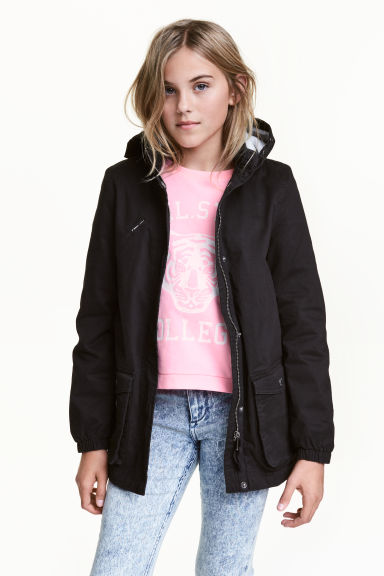 Cotton parka - Black - Kids | H&M