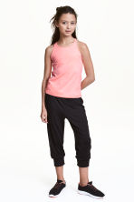 3/4-length sports trousers - Black - Kids | H&M 1