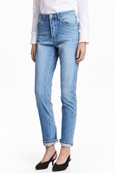 Relaxed High Jeans - Denim blue - Ladies | H&M 1