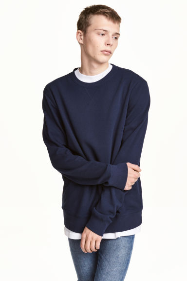 Sweatshirt - Dark blue - Men | H&M 1