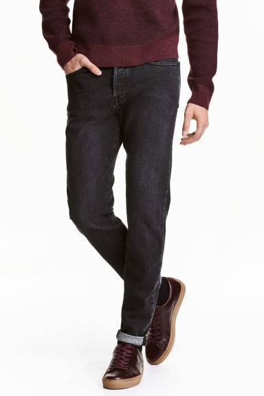 Slim Regular Tapered Jeans - Nero Washed out - UOMO | H&M IT
