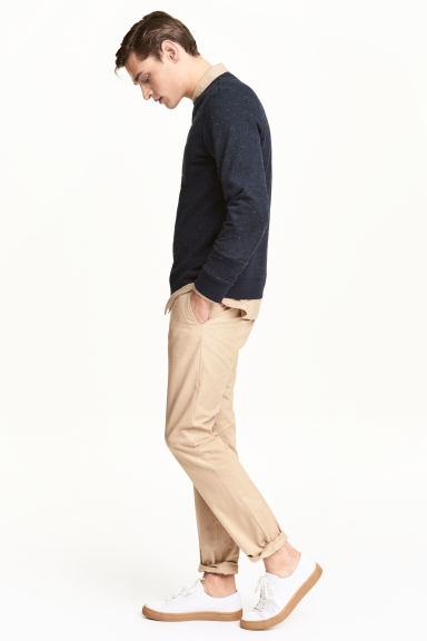 Chino - Slim fit - Lichtbeige - HEREN | H&M BE 1