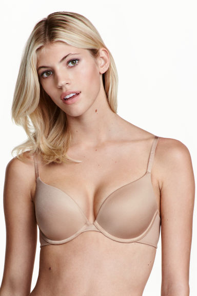 Push-up microfibre bra - Toffee - Ladies | H&M 1