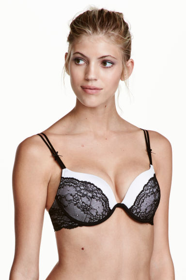 Super push-up in microfibra - Bianco/nero - DONNA | H&M IT 1