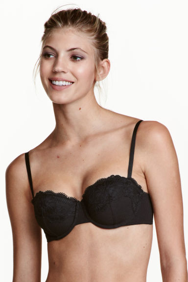 Balconette bra - Black - Ladies | H&M 1
