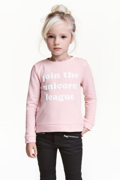 Sweatshirt - Light pink - Kids | H&M 1