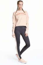 Running tights - Dark grey/Powder - Ladies | H&M CN 1