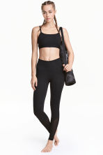 Yoga tights - Black/Mesh - Ladies | H&M GB 1