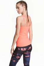 Seamless yoga vest top - Neon coral - Ladies | H&M 1