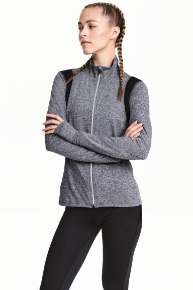 Running jacket - Dark grey marl - Ladies | H&M CN 1