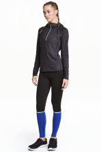 Running tights - Black/Blue - Ladies | H&M CN 1