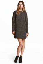 Crêpe dress - Dark grey/Spotted - Ladies | H&M 1